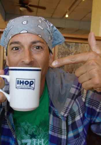 "alt= ""Legg's Griffano at IHOP"""